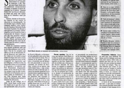Entrevista - Diario de Avisos - 2004