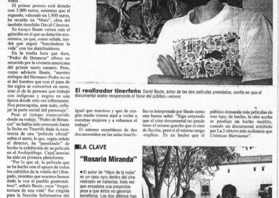 Premios - El Día - 2003