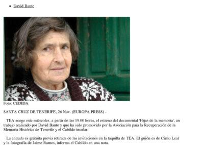 Hijas de la memoria - Europa Press - 2013