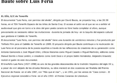 Luis Feria - El Día - 2012