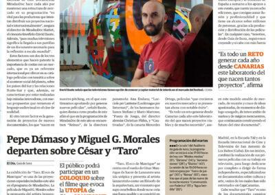 Miradas Doc - El Día - 2013